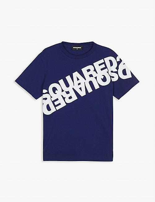 DSQUARED2: Logo-printed cotton T-shirt 4-16 years