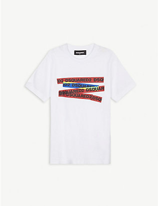 DSQUARED2: Multi tape logo T-shirt 4-16 years