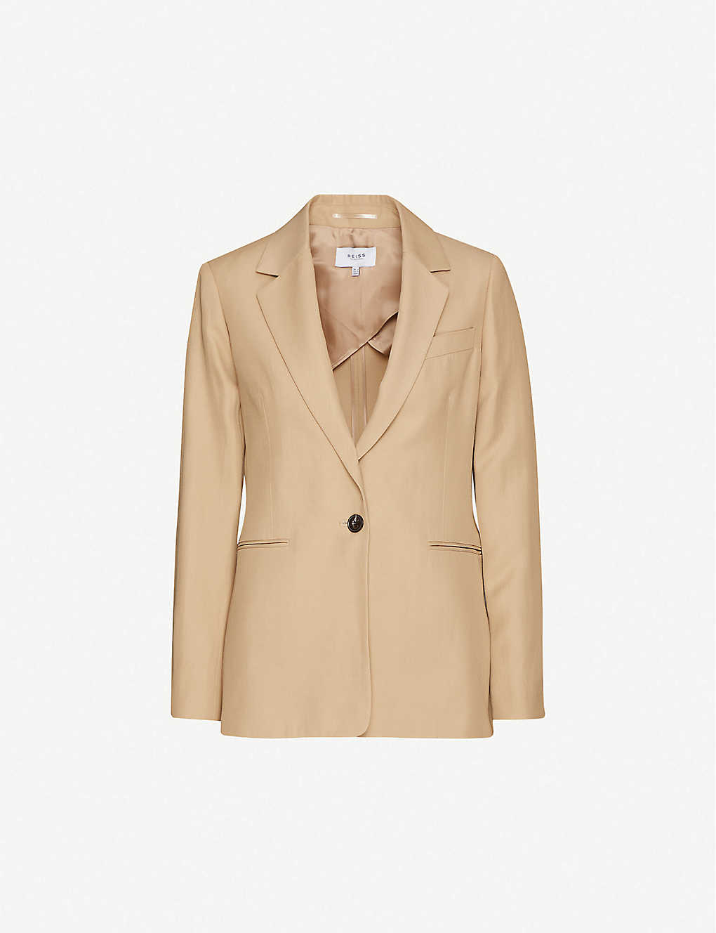REISS: Ada single-breasted twill blazer
