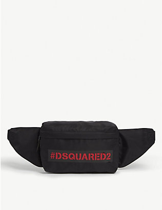 DSQUARED2: Kids logo-embroidered belt bag