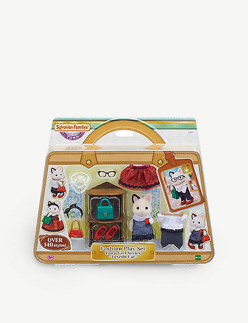 SYLVANIAN FAMILIES: Fashion Play Set Town Girl Series Tuxedo Cat