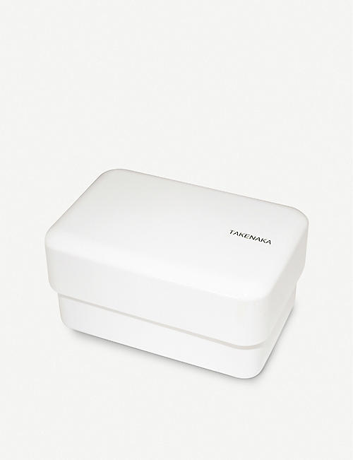 TAKENAKA: Bento two-tier recycled-plastic lunch box 16.5cm x 10.7cm