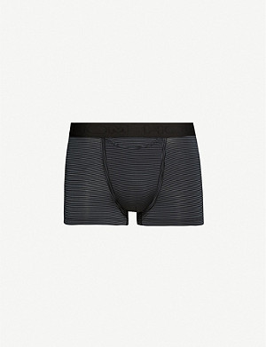 HOM Simon striped jersey trunks