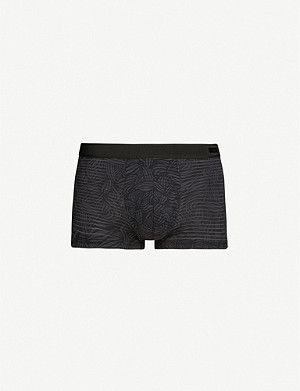 HOM Temptation floral-print stretch-woven trunks