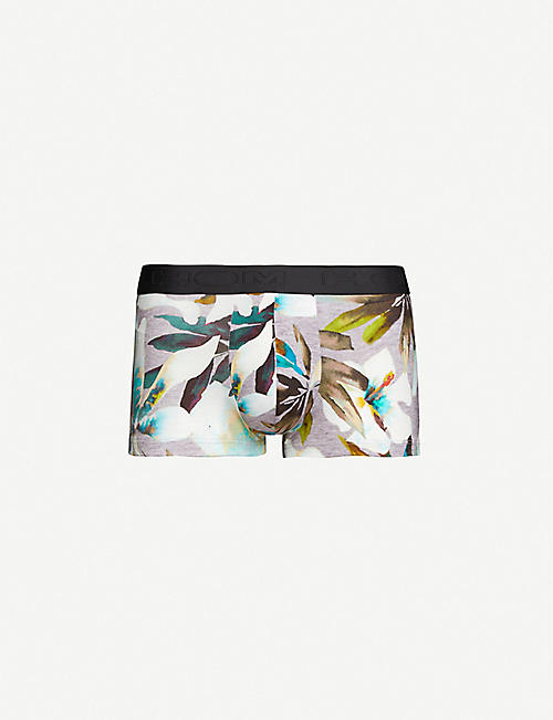 HOM Savannah floral-print stretch-cotton trunks