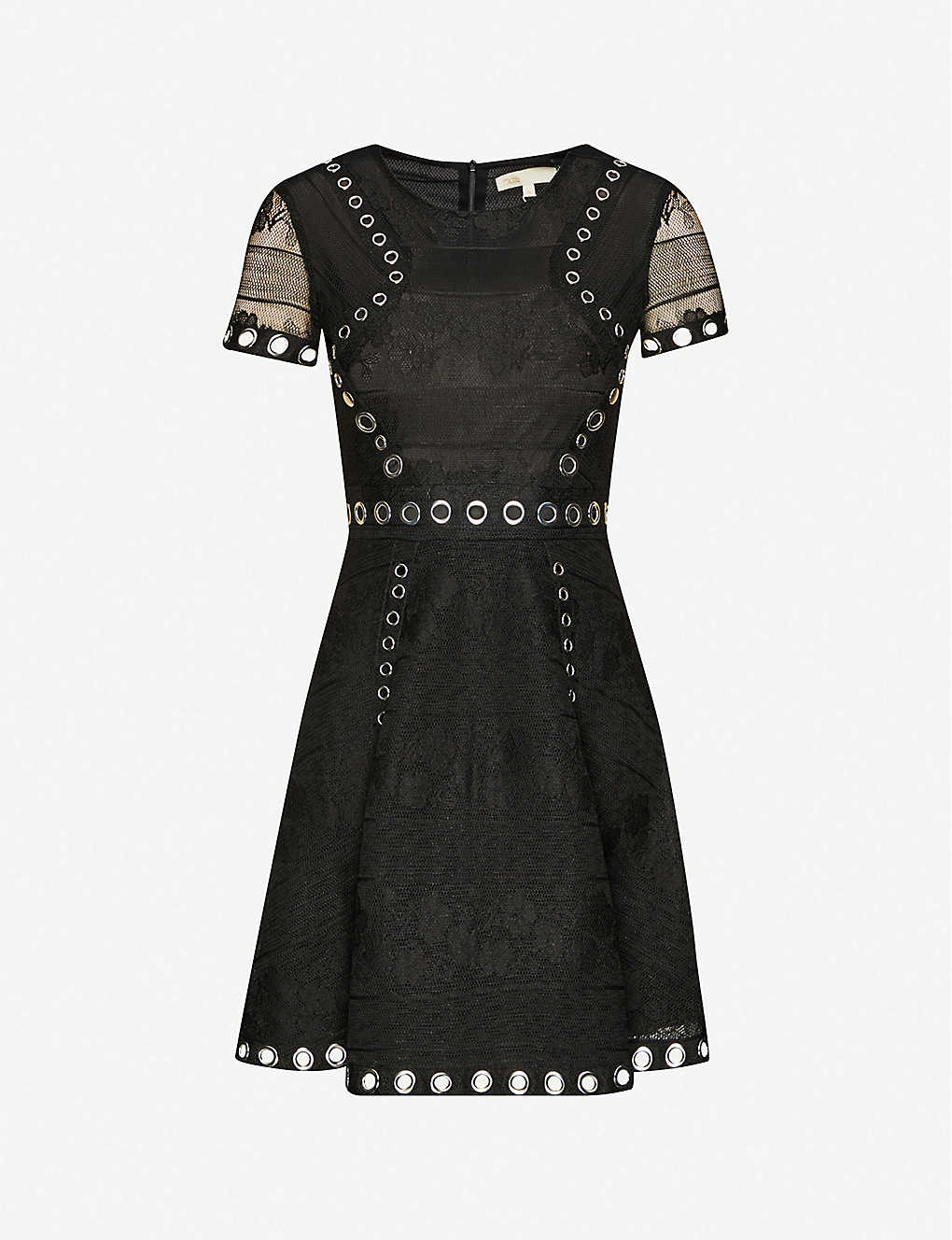 MAJE: Ranch floral-embroidered woven mini dress