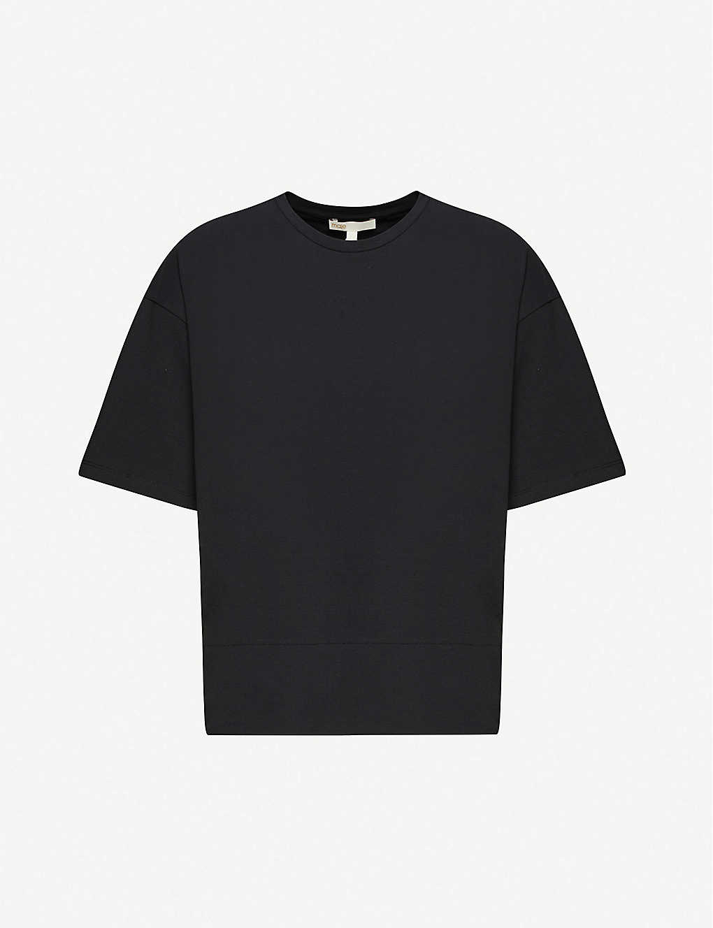 MAJE: Staff stretch-cotton T-shirt