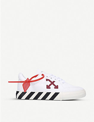 OFF-WHITE C/O VIRGIL ABLOH: Arrow tag-embellished canvas trainers