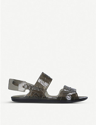 OFF-WHITE C/O VIRGIL ABLOH: Logo-print PVC sandals