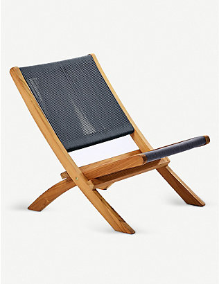 THE CONRAN SHOP: Folding outdoor rope and teak lounge chair