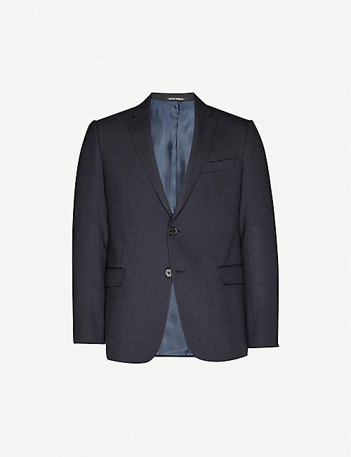 EMPORIO ARMANI: Single-breasted M-line woven and wool-blend jacket