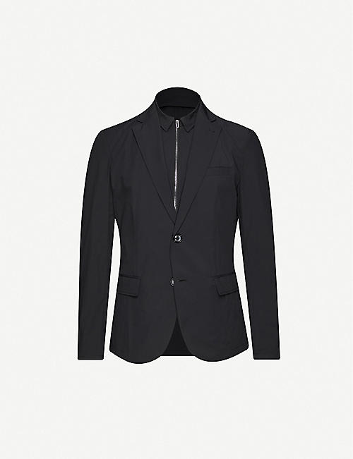 EMPORIO ARMANI: Single-breasted two-in-one stretch-shell blazer