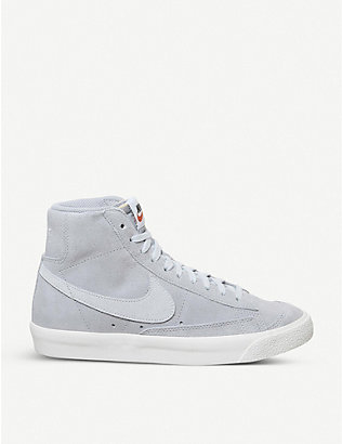 NIKE: Blazer 77 brand-patch suede high-top trainers
