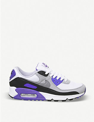 NIKE: Air Max 90 leather and textile trainers