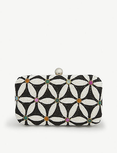 FROM ST XAVIER Sabrina floral-embellished clutch