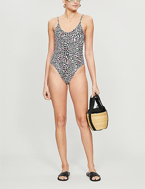 LES GIRLS LES BOYS Leopard-print swimsuit