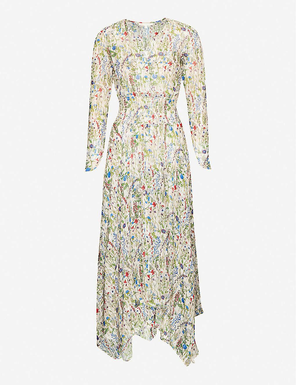 Floral-print crepe maxi dress(8645995)