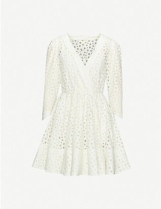 MAJE: Ralina semi-sheer woven mini dress