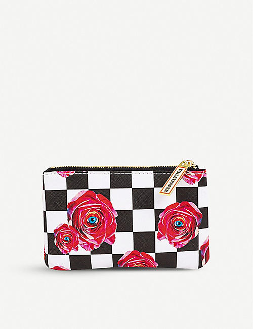 SELETTI: Seletti wears Toiletpaper rose-print faux-leather case