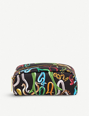 SELETTI Seletti wears Toiletpaper snake-print faux-leather case 20cm x 7cm