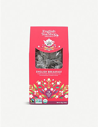 ENGLISH TEA SHOP: English Breakfast tea bags box of 15