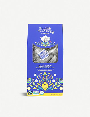 ENGLISH TEA SHOP: Earl Grey tea bags box of 15