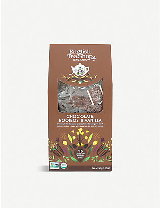 ENGLISH TEA SHOP: Chocolate, rooibos and vanilla tea 60g