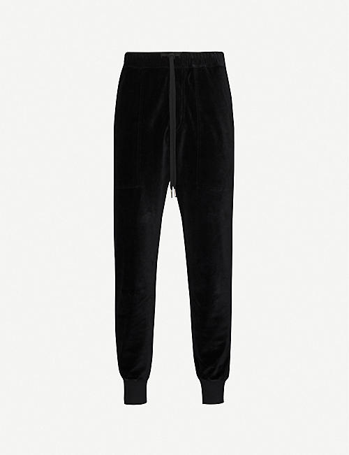 TOM FORD Tapered velvet jogging bottoms