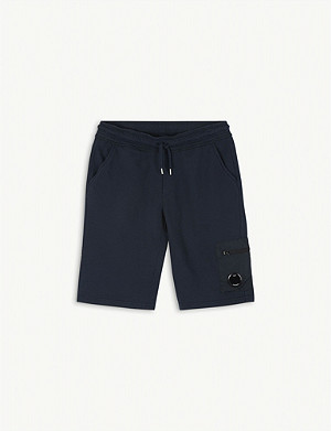 CP COMPANY Lens detail cotton Bermuda shorts 10-14 years
