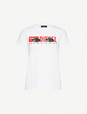 DIESEL Eye-print cotton-jersey T-shirt