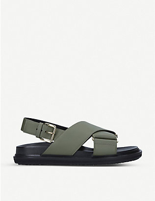 MARNI: Fussbett leather sandals