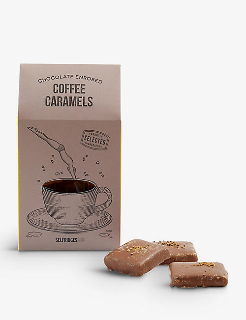 SELFRIDGES SELECTION Chocolate Enrobed Coffee Caramels 150g