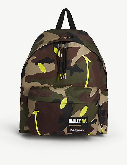 EASTPAK Eastpak x Smiley camo-print woven backpack