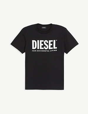 DIESEL Successful living logo-print cotton T-shirt 4-16 years