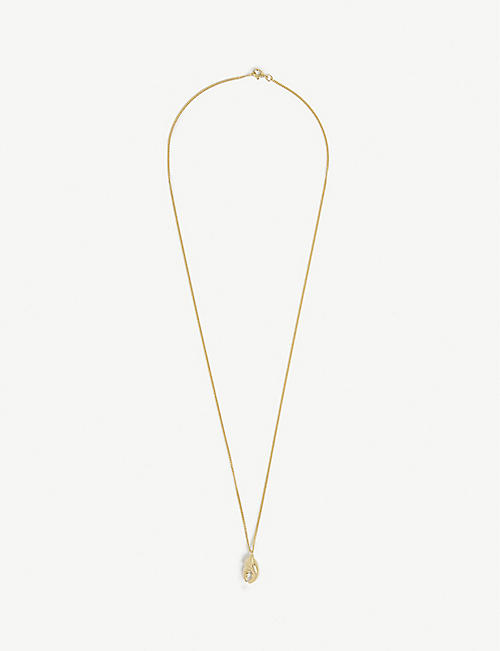 MIANSAI: Lobster claw gold-plated vermeil silver pendant necklace