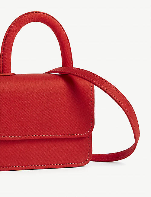 GELAREH MIZRAHI Micro mini satin top handle bag