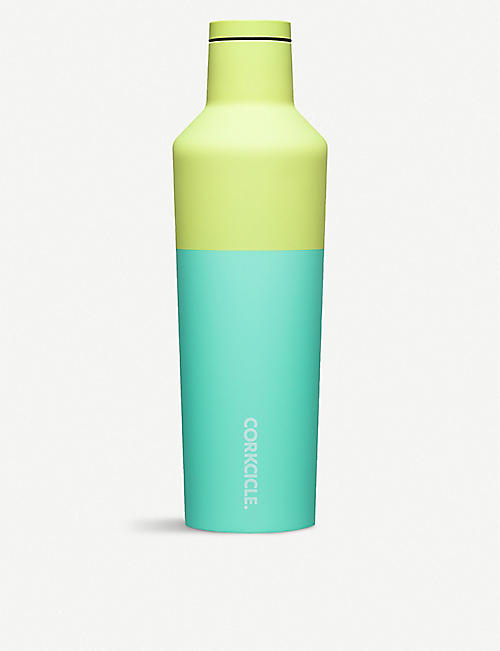 CORKCICLE: Colour Block stainless steel canteen 9oz