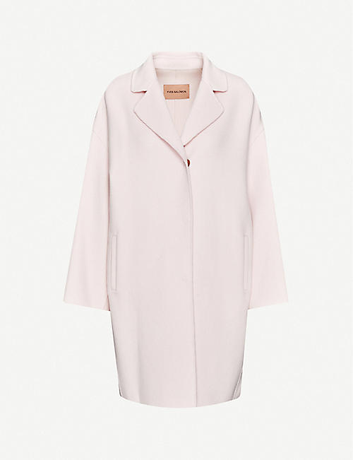 YVES SALOMON Oversized-fit wool-cashmere blend jacket