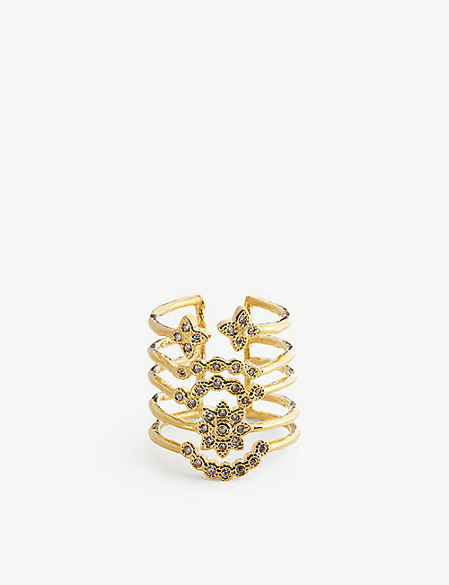 MAJE: Semainer flower ring