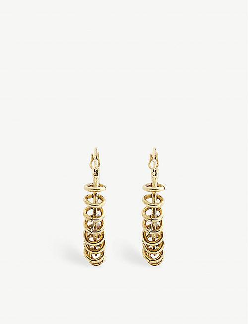 MAJE: Brass hoop earrings