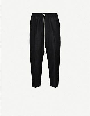 RICK OWENS: Astaires tapered wool-blend trousers