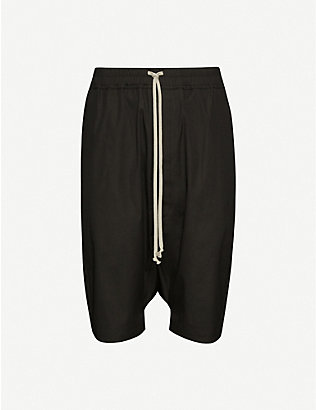 RICK OWENS: Straight stretch-cotton shorts