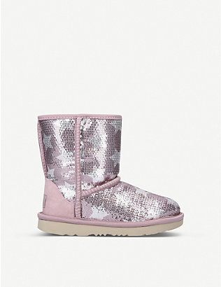 UGG: Classic Short sequin-embellished boots 7-10 years