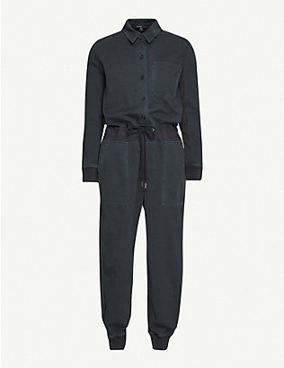 JAMES PERSE: Mixed Media cotton jumpsuit