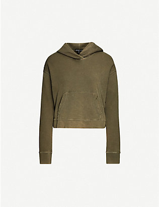 JAMES PERSE: Cropped cotton-jersey hoody