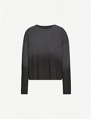 JAMES PERSE: Dip-dyed cotton-jersey sweatshirt