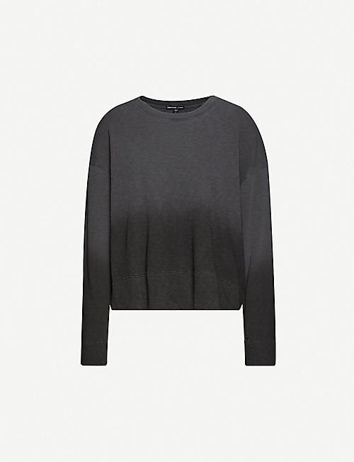 JAMES PERSE Dip-dyed cotton-jersey sweatshirt