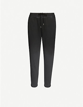 JAMES PERSE: Dip-dyed tapered cotton-jersey jogging bottoms