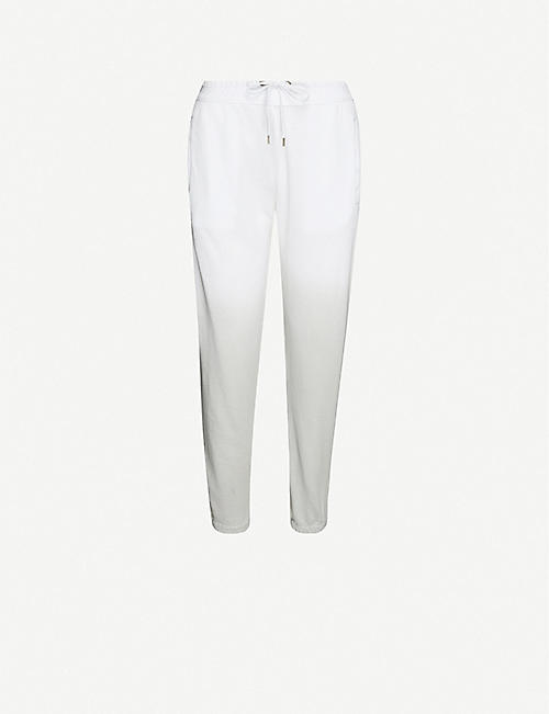 JAMES PERSE Dip-dyed tapered cotton-jersey jogging bottoms