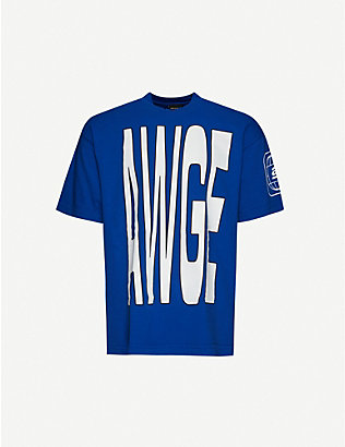 AWGE: Logo-print oversized cotton-jersey T-shirt